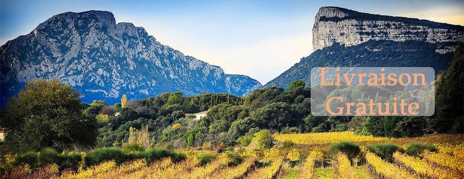 Livraison gratuite vin du Languedoc Roussillon